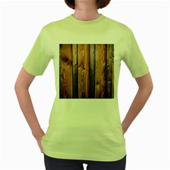 Wood Boards Wooden Wall Wall Boards Women s Green T Shirt
