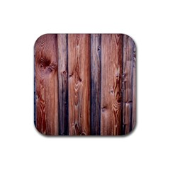 Wood Boards Wooden Wall Wall Boards Rubber Square Coaster (4 Pack)