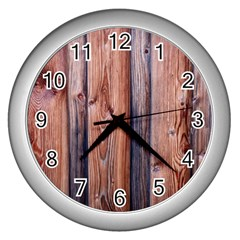 Wood Boards Wooden Wall Wall Boards Wall Clock (silver)