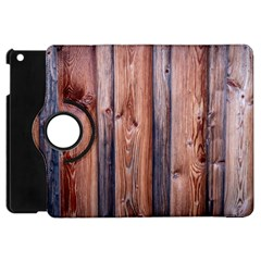 Wood Boards Wooden Wall Wall Boards Apple Ipad Mini Flip 360 Case by Simbadda