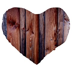 Wood Boards Wooden Wall Wall Boards Large 19  Premium Heart Shape Cushions