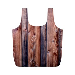 Wood Boards Wooden Wall Wall Boards Full Print Recycle Bag (m)