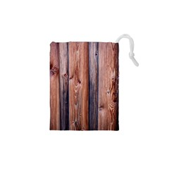 Wood Boards Wooden Wall Wall Boards Drawstring Pouch (xs)
