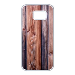 Wood Boards Wooden Wall Wall Boards Samsung Galaxy S7 Edge White Seamless Case