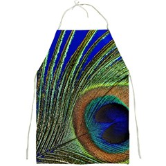 Peacock Feather Macro Peacock Bird Full Print Aprons