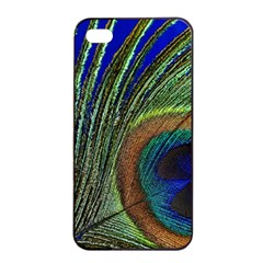 Peacock Feather Macro Peacock Bird Apple Iphone 4/4s Seamless Case (black) by Simbadda