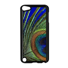 Peacock Feather Macro Peacock Bird Apple Ipod Touch 5 Case (black) by Simbadda