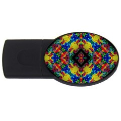 Kaleidoscope Art Pattern Ornament Usb Flash Drive Oval (2 Gb)