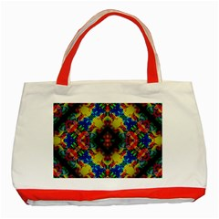 Kaleidoscope Art Pattern Ornament Classic Tote Bag (red)