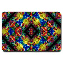 Kaleidoscope Art Pattern Ornament Large Doormat