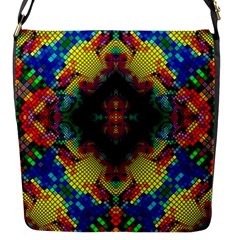 Kaleidoscope Art Pattern Ornament Flap Closure Messenger Bag (s)