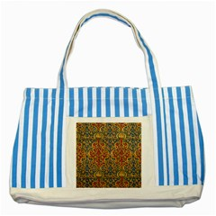 Wall Texture Pattern Carved Wood Striped Blue Tote Bag