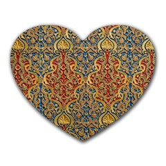 Wall Texture Pattern Carved Wood Heart Mousepads