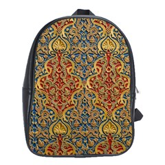 Wall Texture Pattern Carved Wood School Bag (large)
