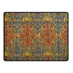 Wall Texture Pattern Carved Wood Fleece Blanket (small)