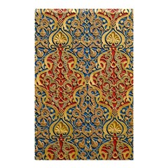 Wall Texture Pattern Carved Wood Shower Curtain 48  X 72  (small)  by Simbadda