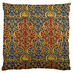 Wall Texture Pattern Carved Wood Large Cushion Case (two Sides)