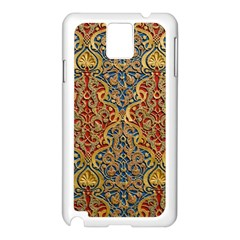Wall Texture Pattern Carved Wood Samsung Galaxy Note 3 N9005 Case (white)