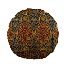 Wall Texture Pattern Carved Wood Standard 15  Premium Flano Round Cushions by Simbadda