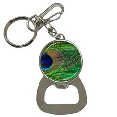 Peacock Feather Macro Peacock Bird Bottle Opener Key Chains