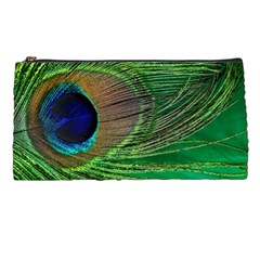 Peacock Feather Macro Peacock Bird Pencil Cases by Simbadda