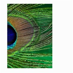 Peacock Feather Macro Peacock Bird Large Garden Flag (two Sides)