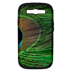 Peacock Feather Macro Peacock Bird Samsung Galaxy S Iii Hardshell Case (pc+silicone)