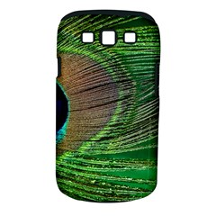 Peacock Feather Macro Peacock Bird Samsung Galaxy S Iii Classic Hardshell Case (pc+silicone)