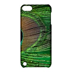 Peacock Feather Macro Peacock Bird Apple Ipod Touch 5 Hardshell Case With Stand