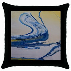 Sun And Water Throw Pillow Case (black)