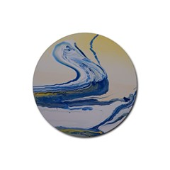 Sun And Water Rubber Round Coaster (4 Pack)
