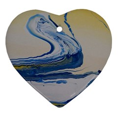Sun And Water Heart Ornament (two Sides)