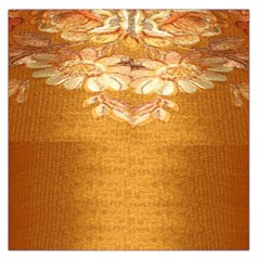 Golden Sunrise Pattern Flowers By Flipstylez Designs Large Satin Scarf (square)