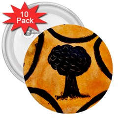 Ceramic Tree Smudge 3  Buttons (10 Pack)