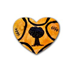 Ceramic Tree Smudge Heart Coaster (4 Pack)