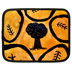 Ceramic Tree Smudge Netbook Case (large)