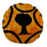 Ceramic Tree Smudge Large 18  Premium Flano Round Cushions Back