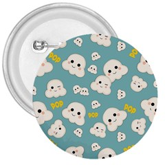 Cute Kawaii Popcorn Pattern 3  Buttons by Valentinaart
