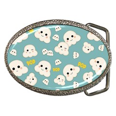 Cute Kawaii Popcorn Pattern Belt Buckles by Valentinaart