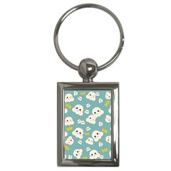 Cute Kawaii Popcorn Pattern Key Chains (rectangle)