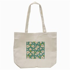 Cute Kawaii Popcorn Pattern Tote Bag (cream)