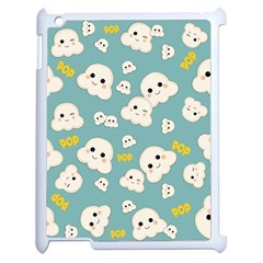 Cute Kawaii Popcorn Pattern Apple Ipad 2 Case (white)