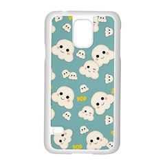 Cute Kawaii Popcorn Pattern Samsung Galaxy S5 Case (white) by Valentinaart
