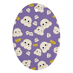Cute Kawaii Popcorn Pattern Ornament (oval)