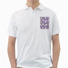 Cute Kawaii Popcorn Pattern Golf Shirt