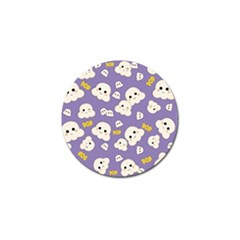 Cute Kawaii Popcorn Pattern Golf Ball Marker