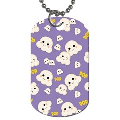 Cute Kawaii Popcorn Pattern Dog Tag (two Sides) by Valentinaart