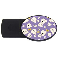 Cute Kawaii Popcorn Pattern Usb Flash Drive Oval (4 Gb) by Valentinaart