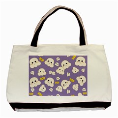 Cute Kawaii Popcorn Pattern Basic Tote Bag