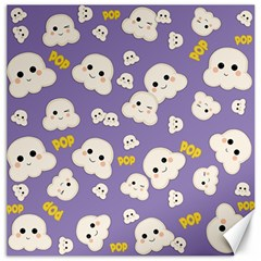 Cute Kawaii Popcorn Pattern Canvas 12  X 12